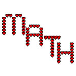 Math Red Hearts Text
