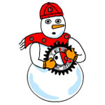 Mechanical Snowman
